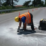Installation of sensors in asphalt or concrete